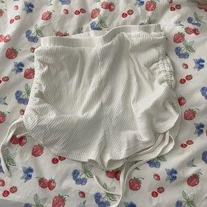 White Princess Polly Drawstring shorts